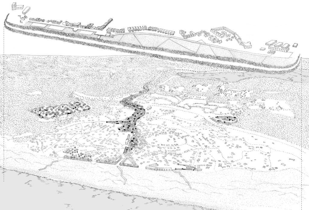 En l'absence d'outils opérationnels pour mettre en œuvre la recomposition territoriale, la municipalité envisage de consolider le front de mer à l'aide d'un ouvrage dit « temporaire ».